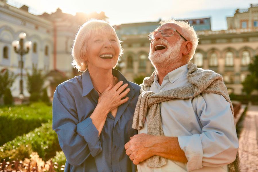 Couple senior heureux - Rencontres Fidelio